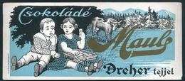SZÁMOLÓ CÉDULA , Régi Reklám Grafika , Csokoládé , Dreher Tejjel  /  Vintage Adv. Graphics BAR TAB, Chocolate With Drehe - Alte Papiere