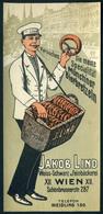 SZÁMOLÓ CÉDULA , Régi Reklám Grafika , Wien, Jakob Lind  /  Vintage Adv. Graphics BAR TAB, Vienna, Jakob Lind - Alte Papiere