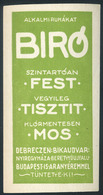 SZÁMOLÓ CÉDULA , Régi Reklám Grafika , Debrecen, Bíró  /  Vintage Adv. Graphics BAR TAB, Debrecen Bíró - Alte Papiere