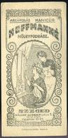 SZÁMOLÓ CÉDULA , Régi Reklám Grafika , Szeged, Hölgyfodrász  /  Vintage Adv. Graphics BAR TAB, Szeged Lady Hairdresser - Alte Papiere