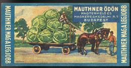 SZÁMOLÓ CÉDULA , Régi Reklám Grafika , Mauthner  /  Vintage Adv. Graphics BAR TAB, Mauthner - Alte Papiere