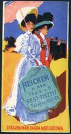 """SZÁMOLÓ CÉDULA , Régi Reklám Grafika , Reicher, II. Tégla Utca """"gyászruhák 24 óra Alatt Festetnek..    /  Vintage Adv. G - Alte Papiere"""