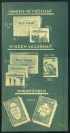 SZÁMOLÓ CÉDULA , Régi Reklám Grafika , Pesti Hírlap  /  Vintage Adv. Graphics BAR TAB, Pest Gazette - Alte Papiere
