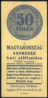 SZÁMOLÓ CÉDULA , Régi Reklám Grafika , Magyarország  /  Vintage Adv. Graphics BAR TAB, Hungary - Alte Papiere