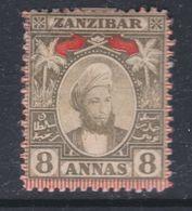 Zanzibar Protectorat Britannique N° 36 X Partie De Série : 8 A. Olive  Trace De Charnière Sinon TB - Zanzibar (...-1963)