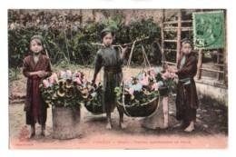 (Vietnam) 437, Tonkin, Dieulefils Colorisée 3013, Hanoï, Petites Marchandes De Fleurs - Viêt-Nam