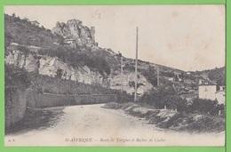 SAINT AFFRIQUE / ROUTE DE TIERGUES ET ROCHER DU CAYLUS..... / Carte Vierge - Saint Affrique