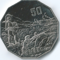 Australia - Elizabeth II - 2015 - 50 Cents - Australians At War - Greece - Monnaie Décimale (1966-...)