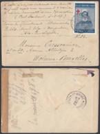 BELGIQUE  LETTRE VIGNETTE CROIX ROUGE OBL POSTE MILITAIRE N 2 11/03/1919 VERS WOLUWE (DD) DC-2302 - WW I
