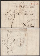 """BELGIQUE LETTRE DE EUPEN """"96 EUPEN """"19/01/1807 VERS LIEGE  (DD) DC-2307 - 1794-1814 (French Period)"""