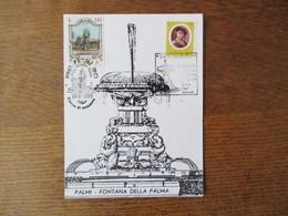 """""""F. CILEA"""" PALMI PALMITES 77 PALMI 16-17-18/X/77 PALMI FONTANA DELLA PALMA - Cartes-Maximum (CM)"""