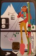 Telefonkarte Frankreich - Les Cabines D'...telepherique 2/4 - Telefonzelle - Sport - Ski - 50 Units - 07/01 - Frankreich