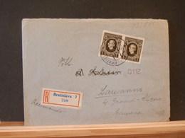 83/584 LETTRE RECOMM. POUR LA SUISSE  CENSURE - Storia Postale