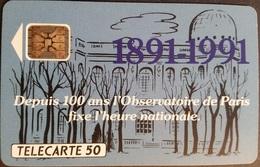 Telefonkarte Frankreich - Observatorium Von Paris -  50 Units - 08/91 - Frankreich