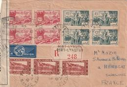 Maroc Lettre Recomandée Censuré De Port Lyauté 1940 Pour La France - Maroc (1891-1956)