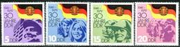 DDR - Mi 2458 / 2461 - ** Postfrisch (C) - 30 Jahre DDR - [6] République Démocratique