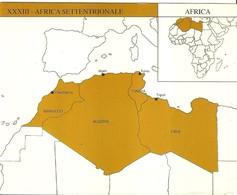 """2918 """" LOTTO DI 4 CARTE -SUDDIVIONE DELL'AFRICA IN ZONE """" ORIGINALI - Cartoline"""