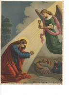 Oleografia Cromolitografia Cristo Sull'oliveto Fine 1800 - Litografia