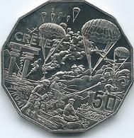 Australia - Elizabeth II - 2015 - 50 Cents - Australians At War - Crete - Monnaie Décimale (1966-...)