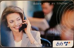 Telefonkarte Bosnien - Herzegowina - Werbung - Telefonieren - Frau Und Mann - Bosnia