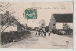 21 - CESSEY Sur TILLE - Rue De La Liberté Animée - Boutique De Vin En Gros - Autres Communes