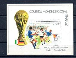 Zaire. Bloc Feuillet. Coupe Du Monde De Football. Espana 82 - Zaïre