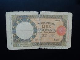 ITALIE : 50 LIRE   21.10.1938   C.I.7 BS 115 * / P 54b     AB - [ 1] …-1946 : Reino