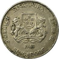Monnaie, Singapour, 20 Cents, 1987, British Royal Mint, TB, Copper-nickel, KM:52 - Singapour