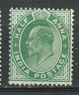 Inde Anglaise - Yvert N°58  * -  Po60441 - 1902-11 King Edward VII
