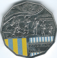 Australia - Elizabeth II - 2016 - 50 Cents - Australians At War - Korean War - Monnaie Décimale (1966-...)