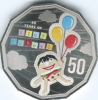 Australia - Elizabeth II - 2016 - 50 Cents - 50 Years Of Play School - Humpty - Monnaie Décimale (1966-...)