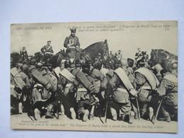 LE TSAR RUSSE A CHEVAL TIENT UN ICONE SACRE DEVANT SES SOLDATS AGENOUILLES      TRES ANIME            TTB - Politische Und Militärische Männer