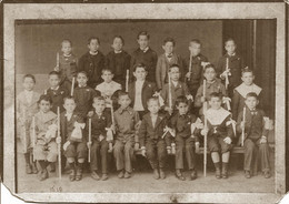 Cabinet Photo 1900'/10's Handsome Boys / Garcons In Communion Costume CHRISTIANITY CHRISTIANITÉ COMMUNION - Fotos