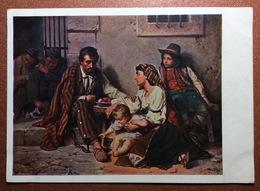 Vintage Russian USSR Postcard GOZNAK 1929 By Vereshchagin. Prison. Prisoner In Shackles. Family Children. - Gevangenis