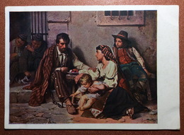 Vintage Russian USSR Postcard GOZNAK 1929 By Vereshchagin. Prison. Prisoner In Shackles. Family Children. - Prison