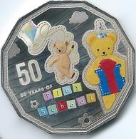 Australia - Elizabeth II - 2016 - 50 Cents - 50 Years Of Play School - Big Ted - Moneta Decimale (1966-...)