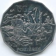 Australia - Elizabeth II - 2016 - 50 Cents - Australians At War - Pozieres - Monnaie Décimale (1966-...)
