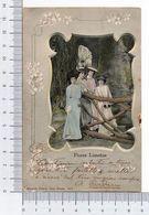 Flores Limeñas 1905 Peru Perù Lima Eduardo Polack Cromolitógrafo Cromolitográfico Mujeres Donne Pinup Bellezas - Perù
