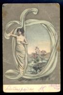 Alphabeth Letter O / Woman / Postcard Circulated, 2 Scans - Autres
