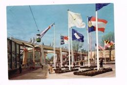Exposition Universelle De Bruxelles.1958.Rond-point Des Nations.A Gauche,la Flèche Du Pavillon Français. - Universal Exhibitions