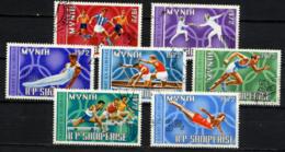 ALBANIE 1971, J.O. MUNICH, Football, Plongeon, Course, Escrime, Athlétisme... 7 Valeurs, Oblitérés / Used. R091 - Zomer 1972: München