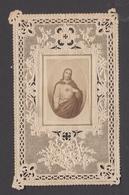 9AL645 HOLY CARD  CANIVET  IMAGE PIEUSE RELIGIEUSE  DENTELLE - SANTINO JESUS 3 SCANS - Images Religieuses