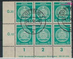 DDR DA35y B DV Mit Druckvermerk Gestempelt 1957 Zirkelbogen Nach Rechts (9285318 - DDR