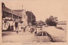 FLEURVILLE        CAFE DE LA MARINE .    AUTO EN PP - France