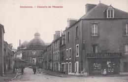 CPA  Coutances  (50)  Chapelle De L'Hospice    Epicerie Mercerie Tabacs   Coll Du Bazar  Rare - Coutances