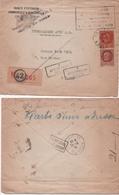 25 Septembre 1944. Enveloppe Adressé Après La Capitulation Allemande De Paris, à Un Juif Interné Depuis 1940 (2 Scannes) - Marcophilie (Lettres)