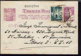 Espagne - 1938 - Carte Postale 25 C + 5 C De Sabadell à Destination Du 224 Brigade Mixte Base 8, CC. 18 - B/TB - - Entiers Postaux