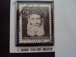 """A Partir De 1940 - Timbre Oblitéré N° 601  """" Gounod, Musicien  """"   0.30 - France"""