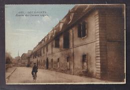 CPA ALLEMAGNE - DEUX-PONTS - DEUX PONTS - Ecuries Des Chevaux Légers - TB PLAN EDIFICE + Cycliste - Zweibruecken