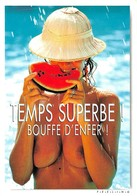 "PIN-UPS // FUNNY NUDE // NU HUMORISTIQUE // ""TEMPS SUPERBE ! BOUFFE D'ENFER ! "" - EDITIONS COMBIER - PHOTO D. ZINTZMEYER - Pin-Ups"